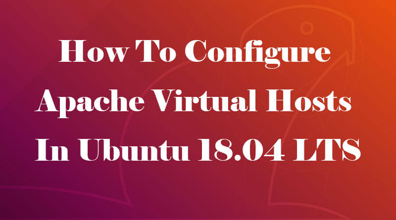 How To Configure Apache Virtual Hosts In Ubuntu 18.04 LTS
